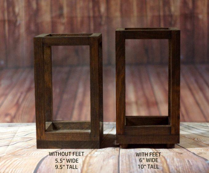 wood candle lantern sizes