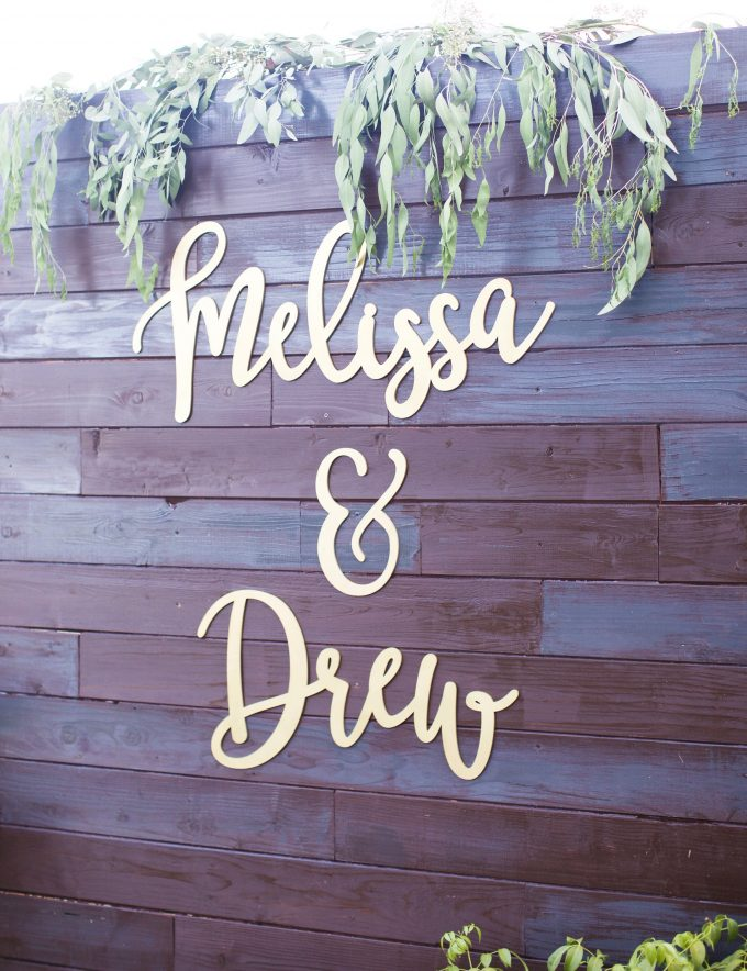 wedding backdrop sign