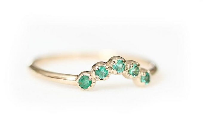 emerald wedding ring by andrea bonelli jewelry