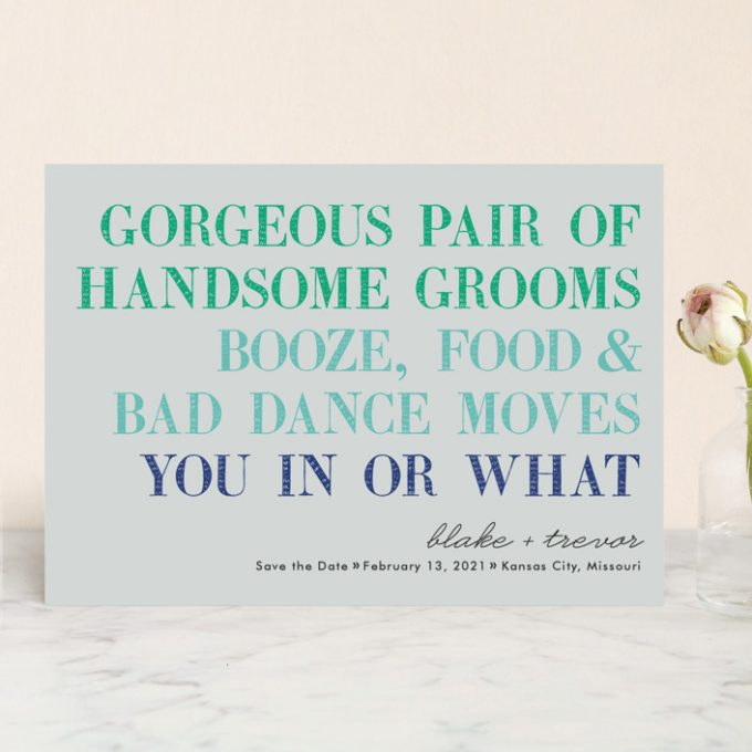 funny save the dates