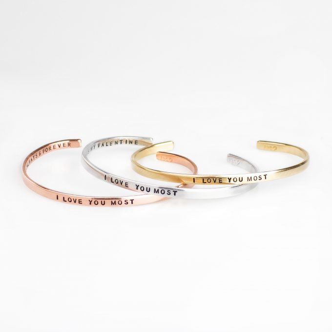 i love you most bracelet