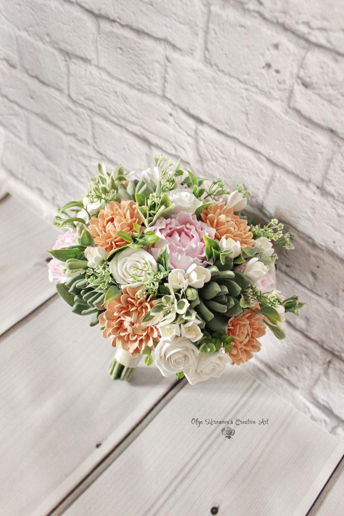 deco clay flowers