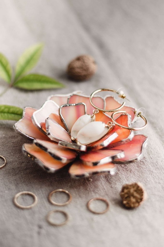 floral ring dish
