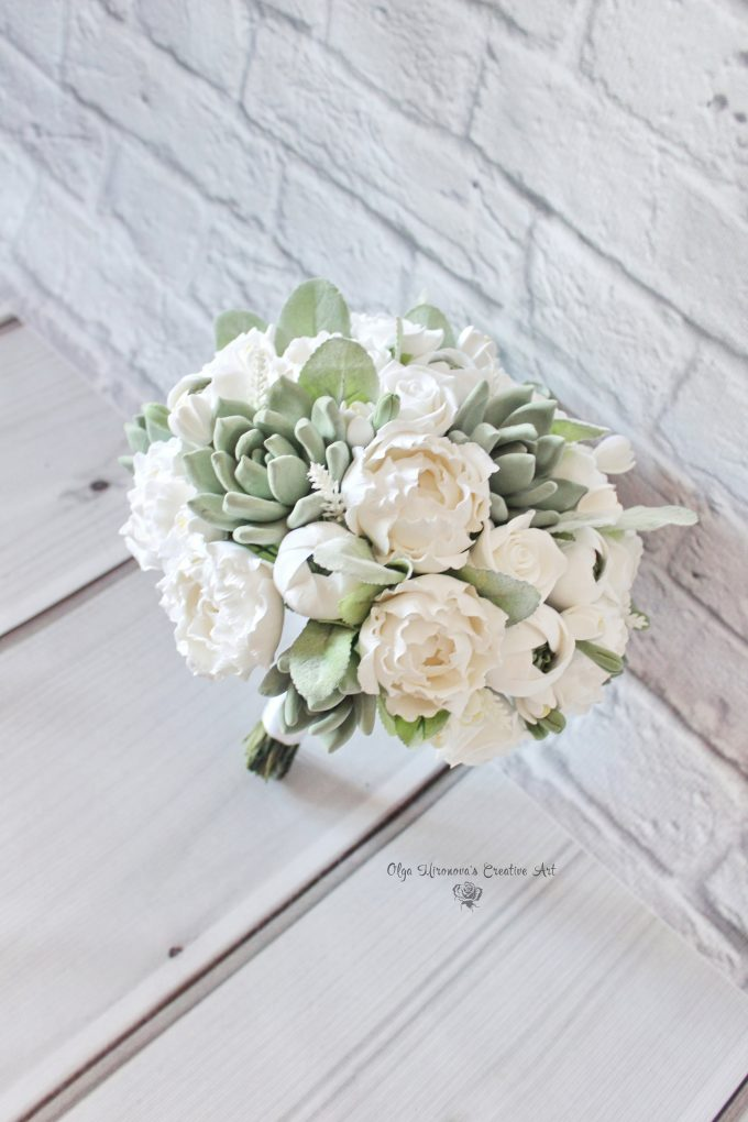 deco clay bouquet