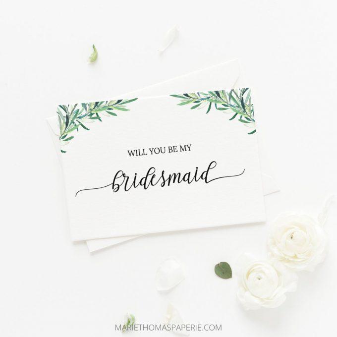 be my bridesmaid printable