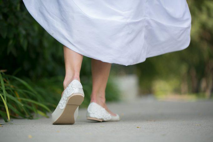 lace wedding flats