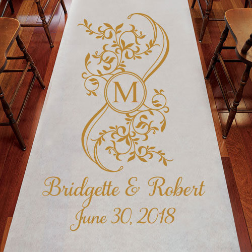 personalized aisle runner