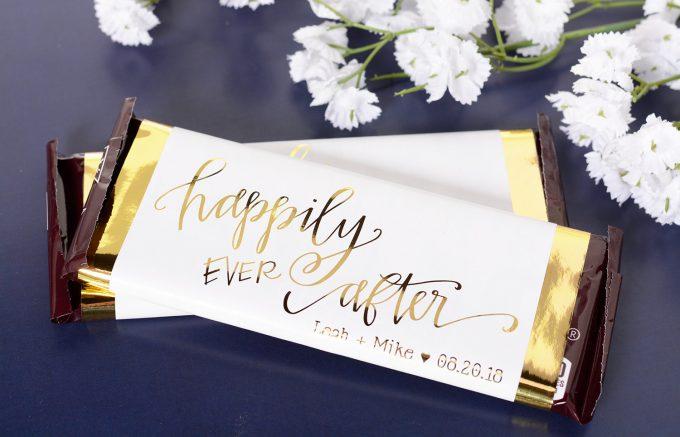 candy bar wedding favors