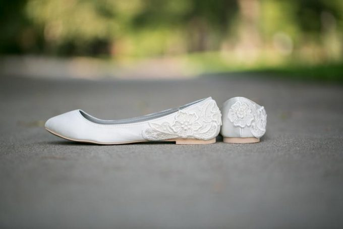 lace wedding flats