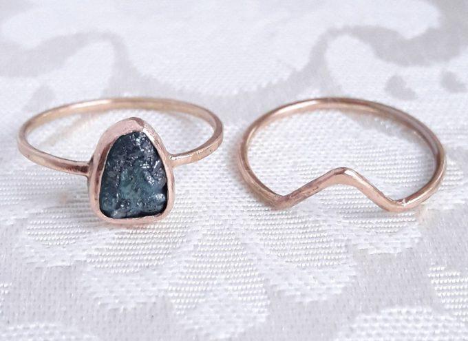 rough diamond engagement rings