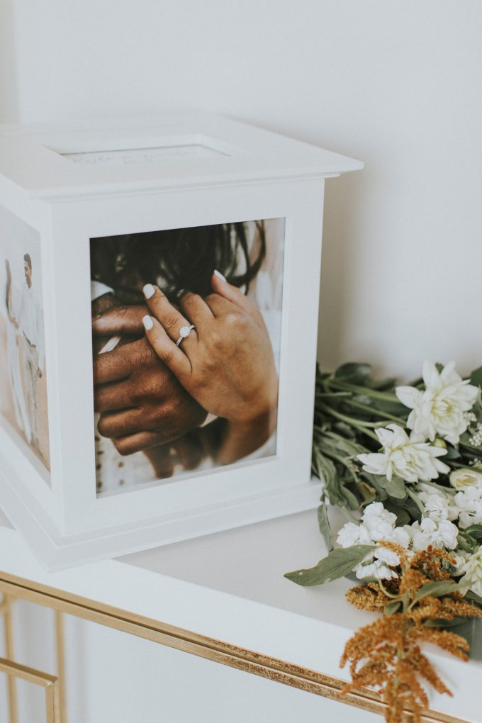 photo card box for wedding