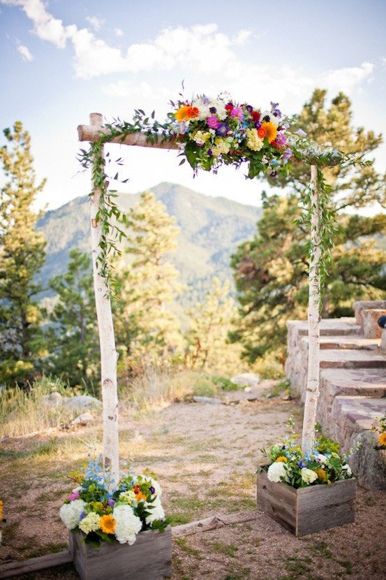 birch wedding arch arbor kit