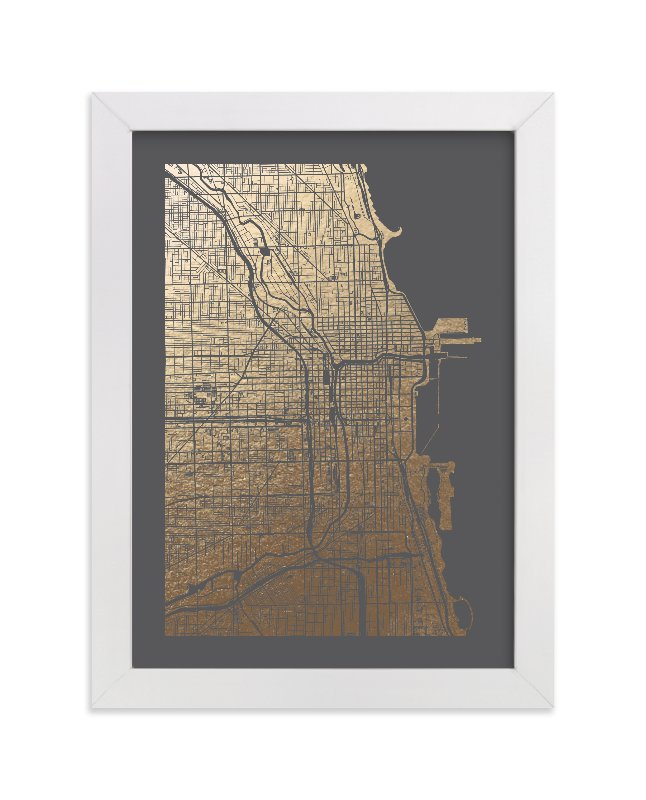 chicago gold foil art