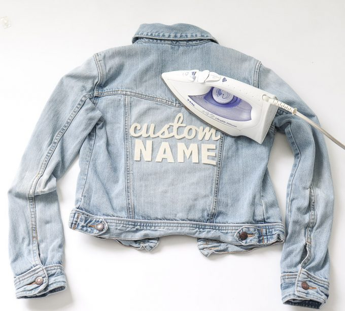 diy wedding denim jacket