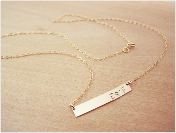 initials and heart necklace