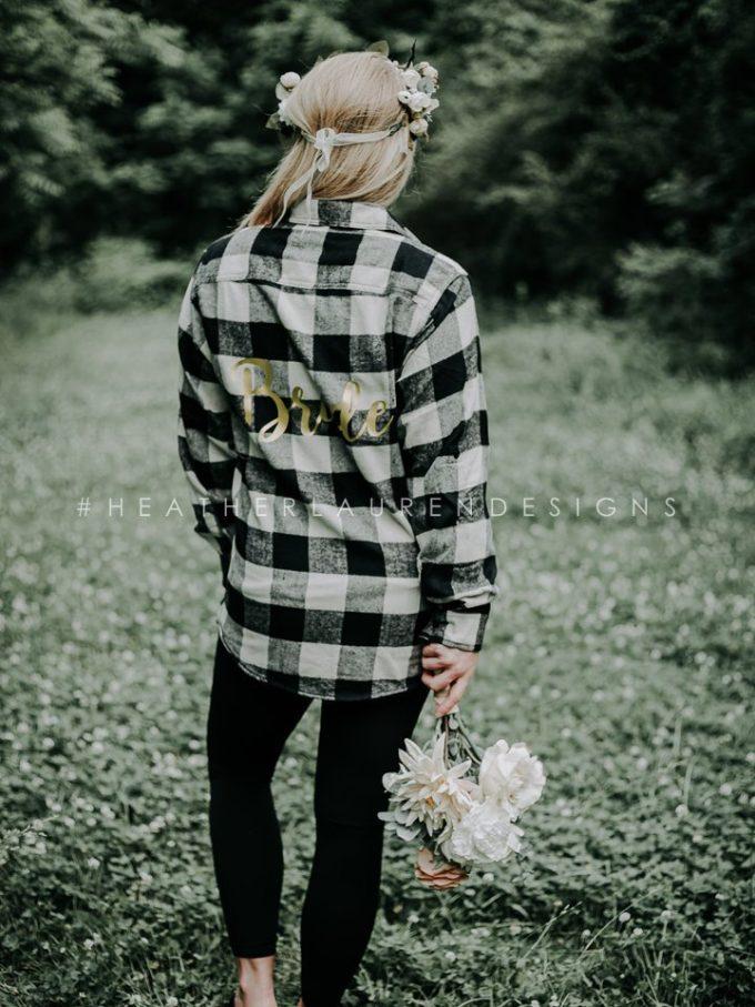 flannel bride shirt