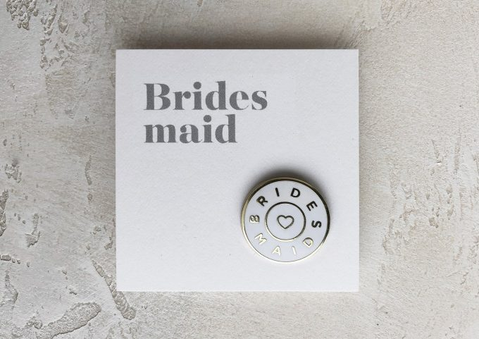 bridesmaid enamel pin