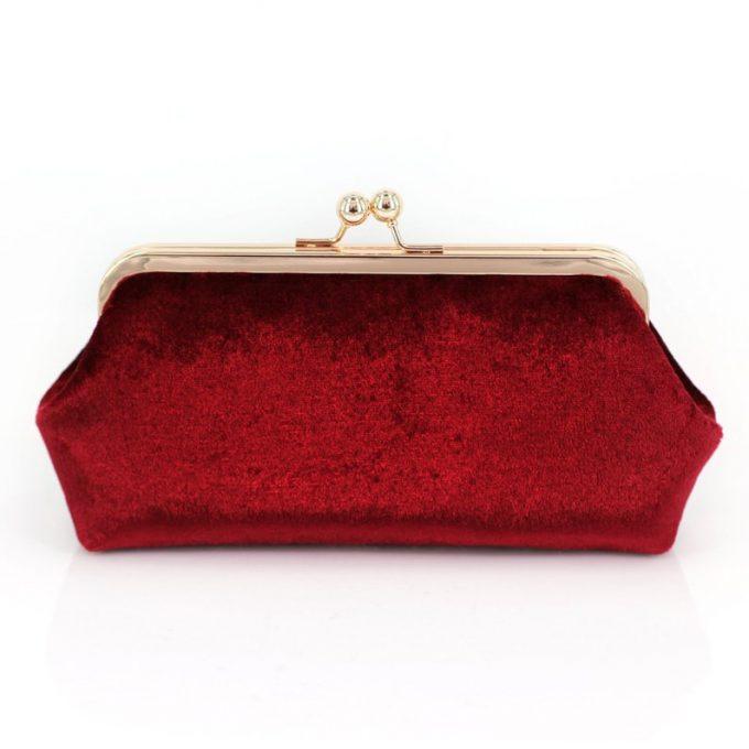 red velvet clutches