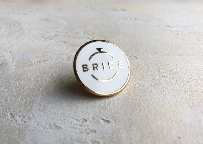 enamel bride pin