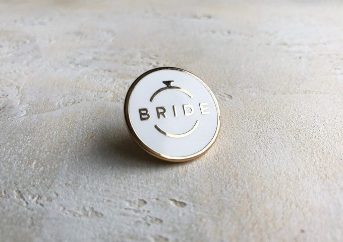 enamel bride pin
