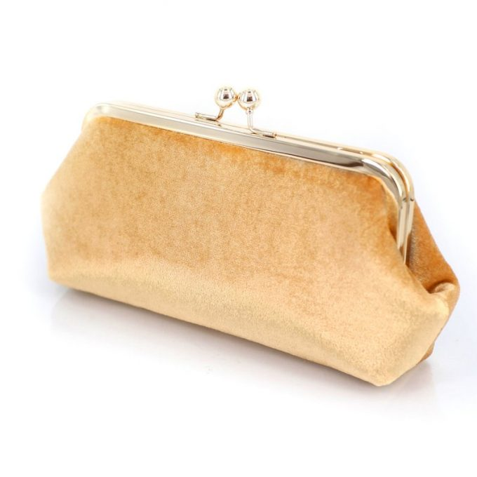 gold velvet clutches