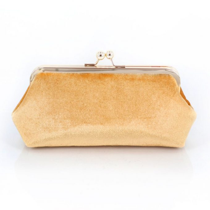 gold velvet clutches