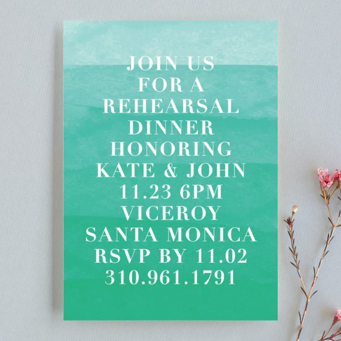 rehearsal dinner invitation wording