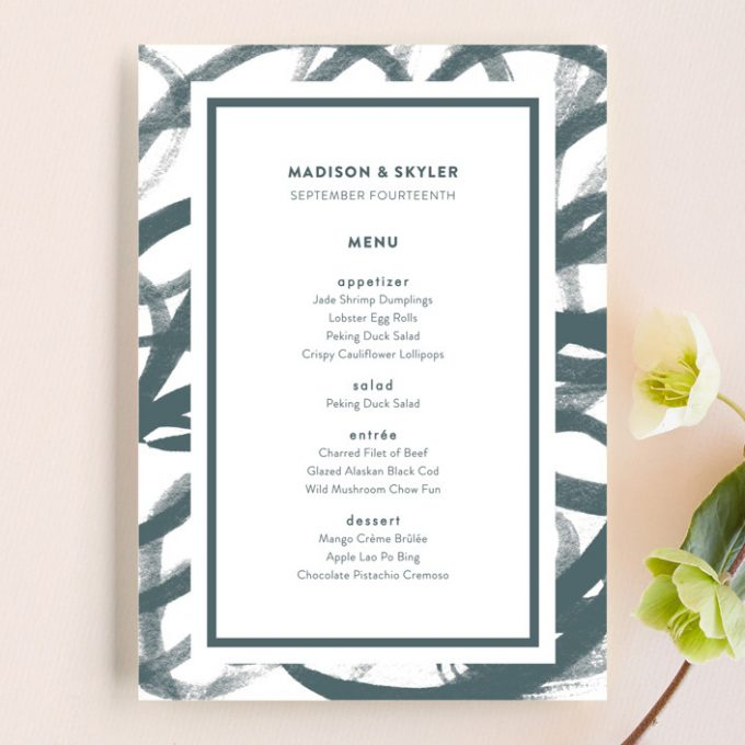 do you need wedding menus