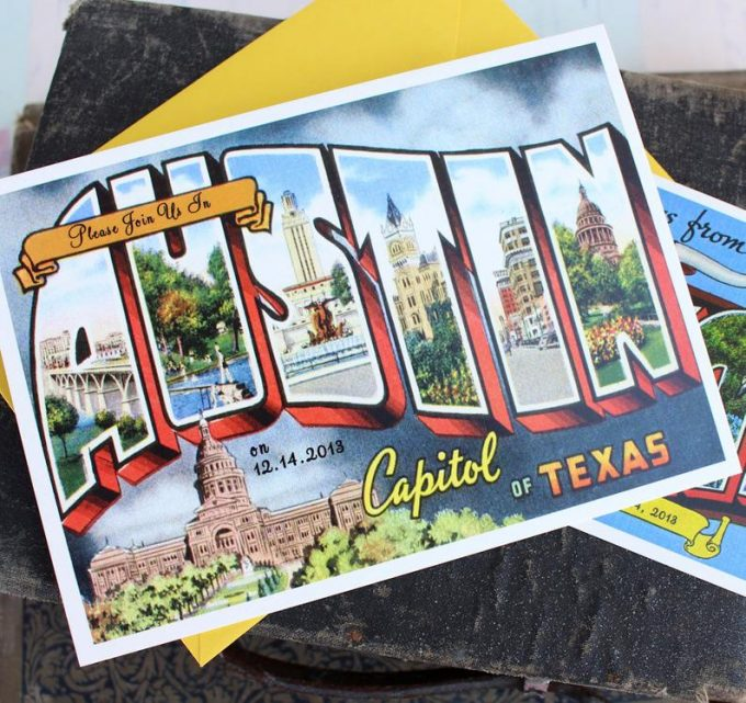 austin themed wedding ideas