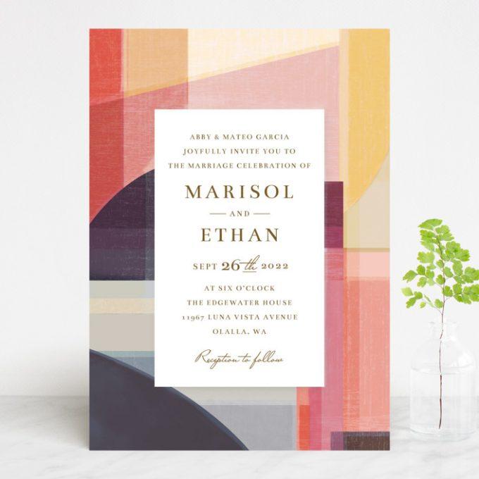 modern wedding invites