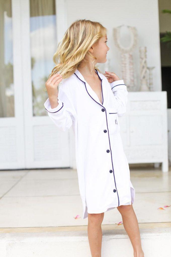 flower girl pajamas sleepshirt