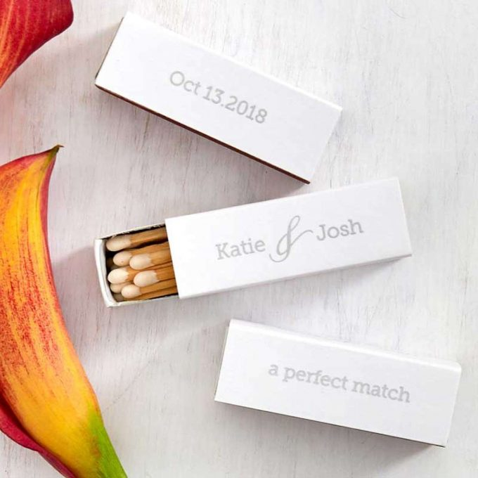 custom wedding matchbooks