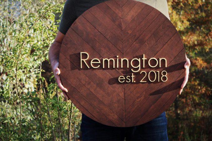 round wood guest book alternative