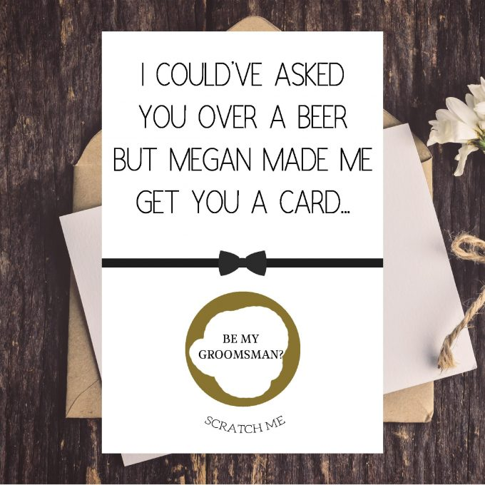 best man gift ideas - card