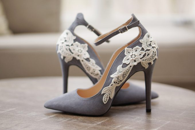 colorful wedding shoes