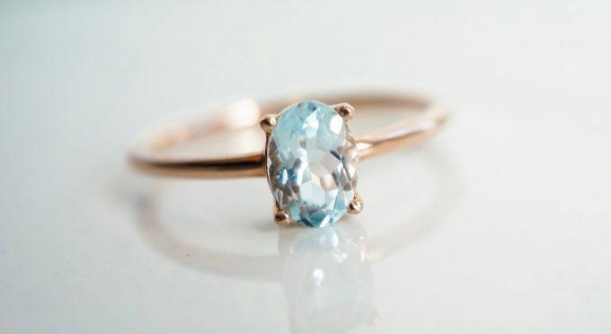 rose quartz engagement rings and unique stones