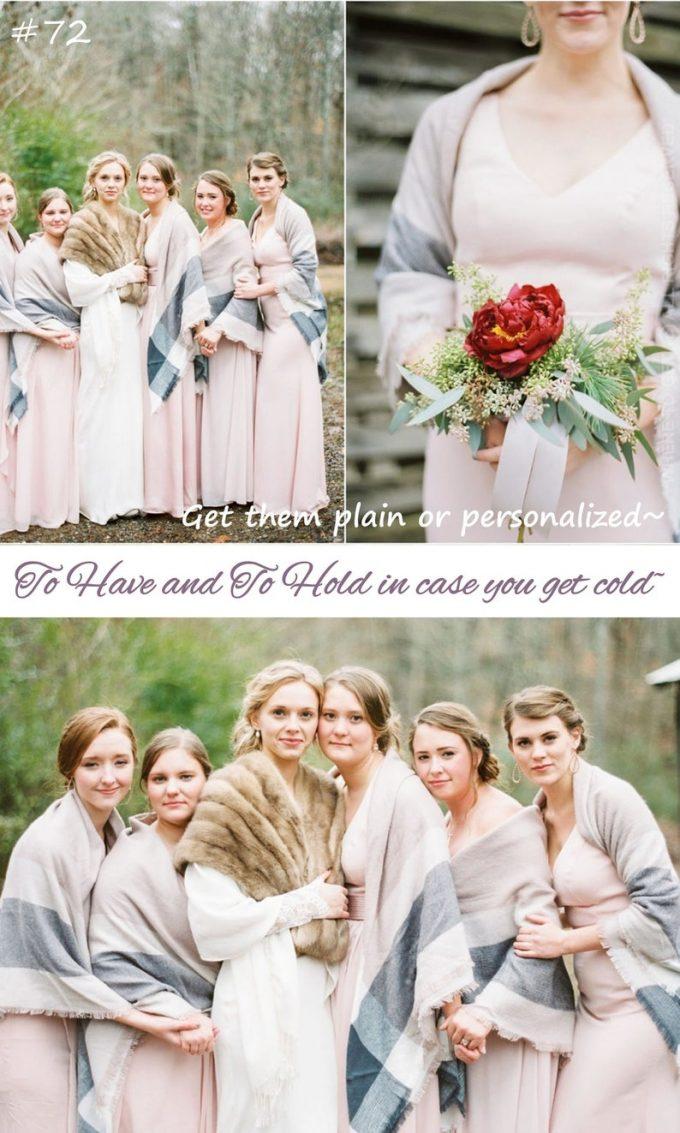 blanket scarves for bridesmaids