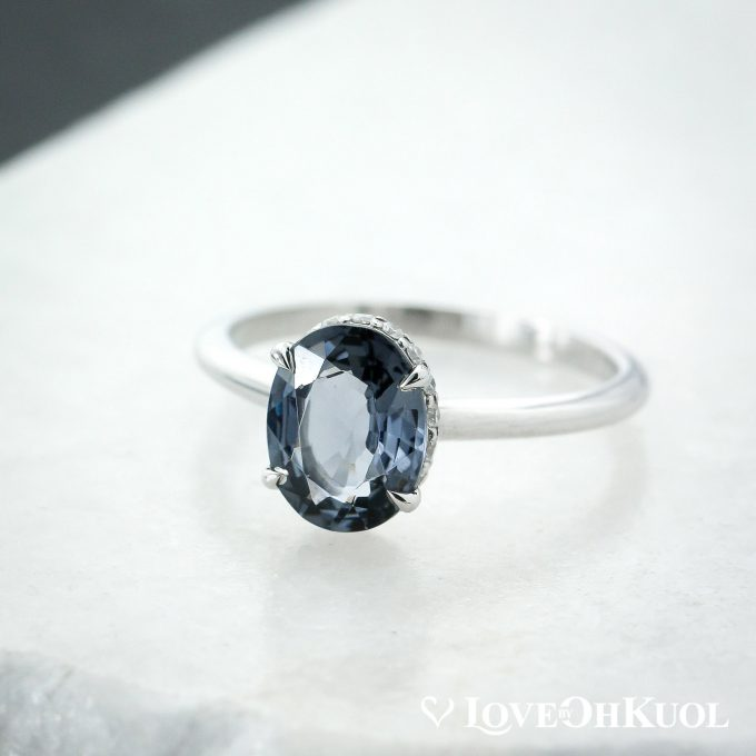 grey engagement ring