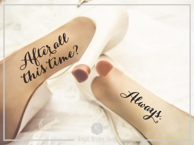 custom wedding shoe decals