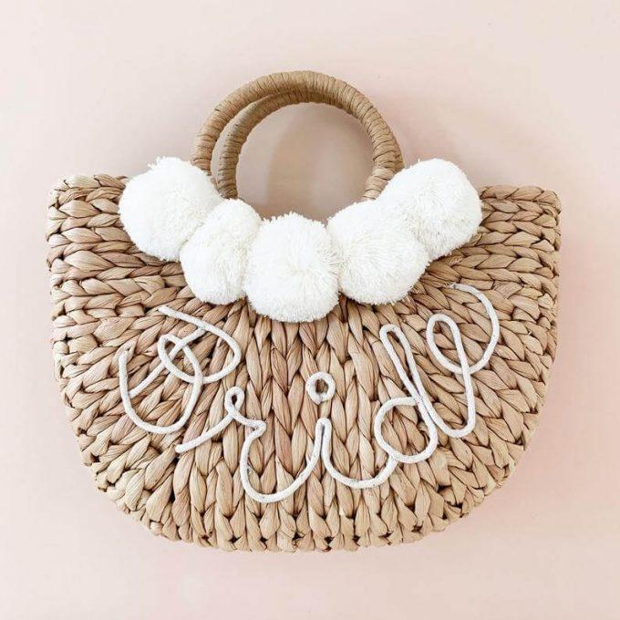 beach wedding bag for the bride