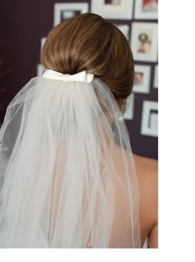 bow bridal veil