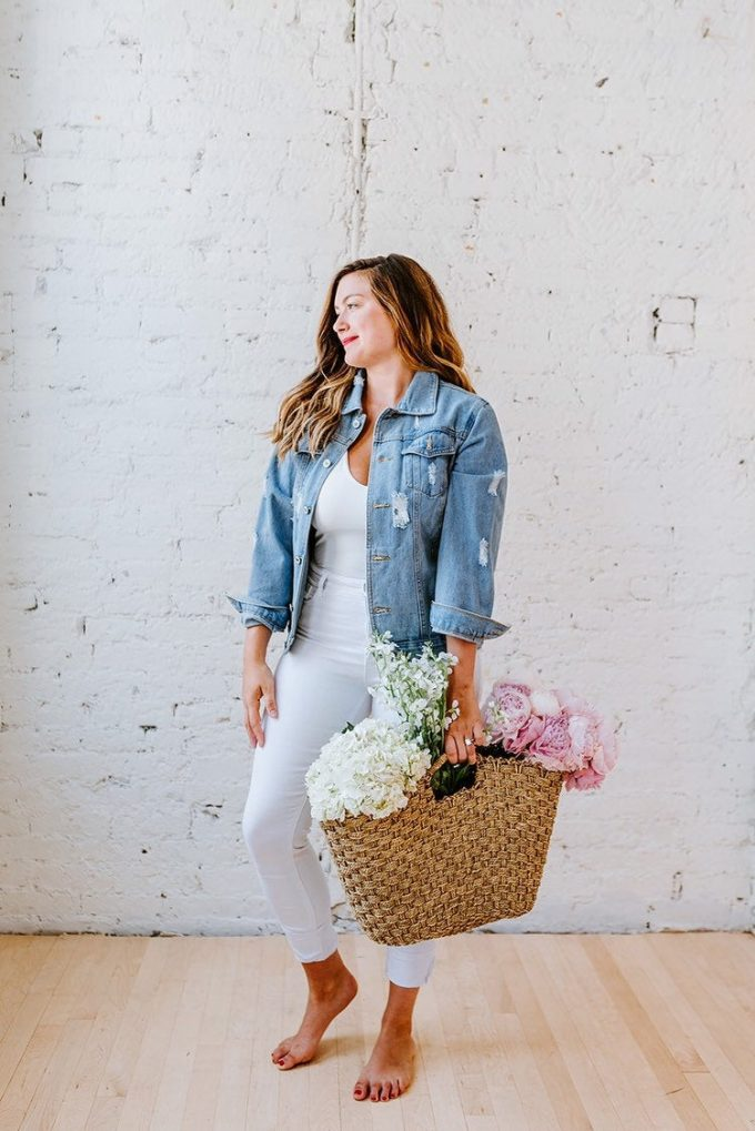 denim jacket for the bride