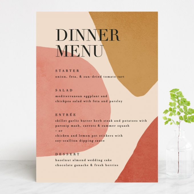 how many wedding menus per table