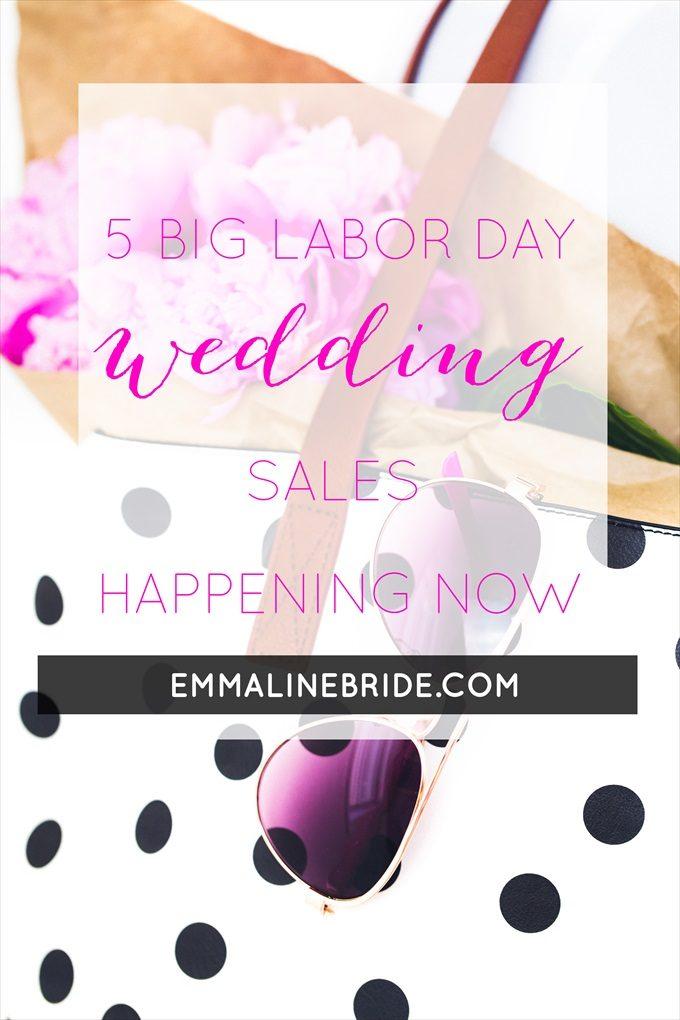 labor day wedding sales