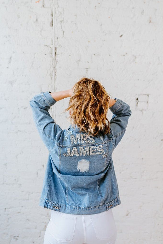 denim jackets for the bride