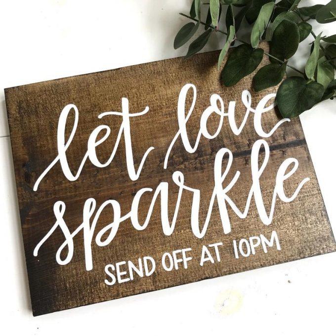 wedding sparkler send off sign