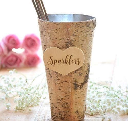 wedding sparkler pail