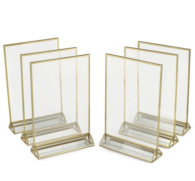 acrylic table number holders