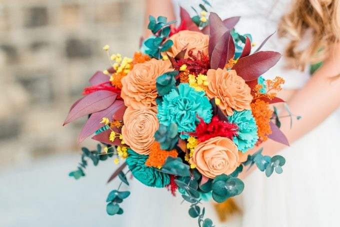 wooden flower bouquets