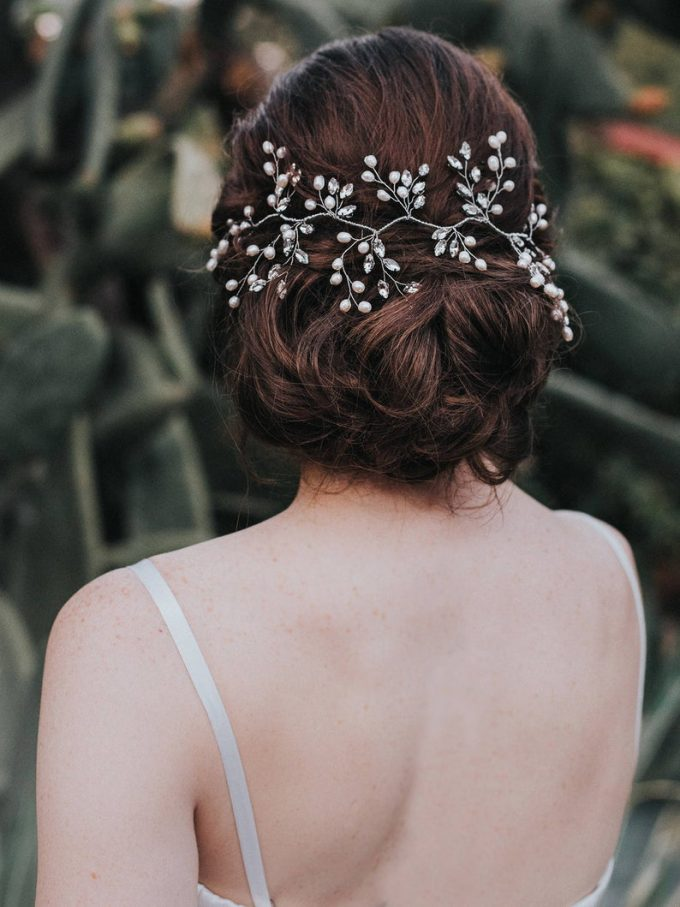 How to Pick a Wedding Hairstyle - accessory by hair comes the bride